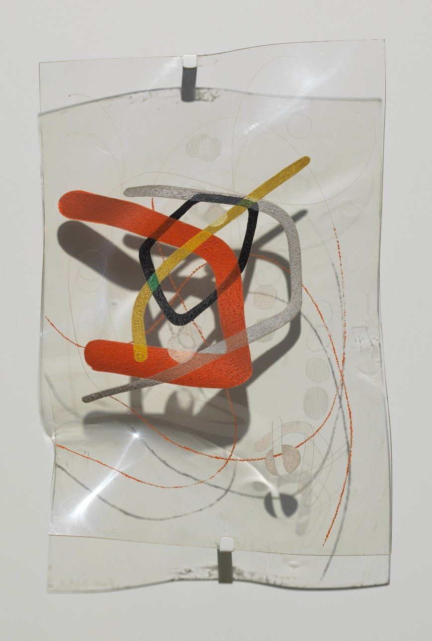 László Moholy-Nagy, B-10 Space Modulator, 1942. Oil and incised ...