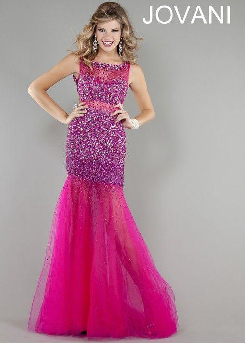 Jovani 171100 - Gray, Hot Pink, Hunter Green Sequin Mermaid Evening ...
