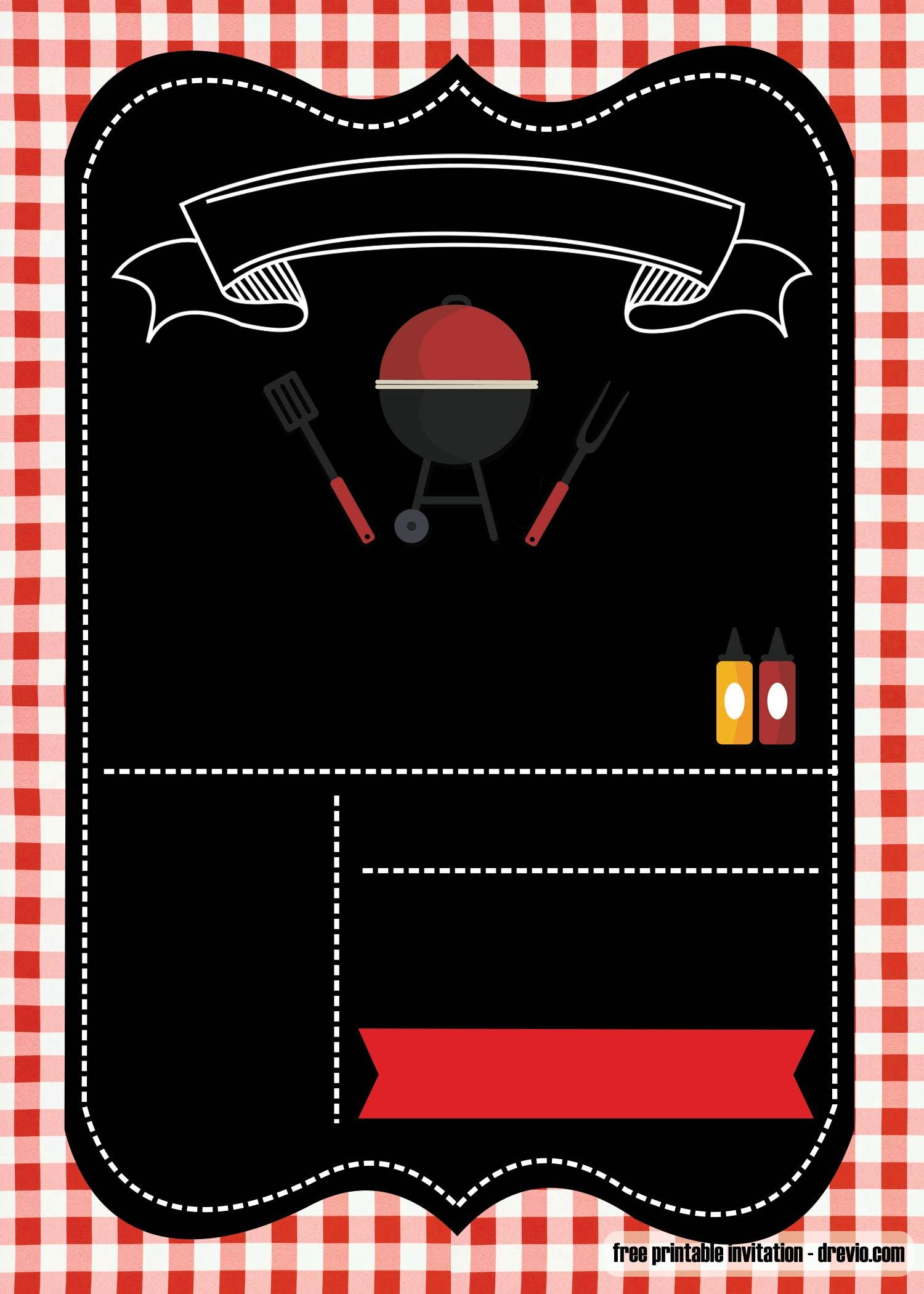 Free Printable Bbq Invitation Template For Your Parties