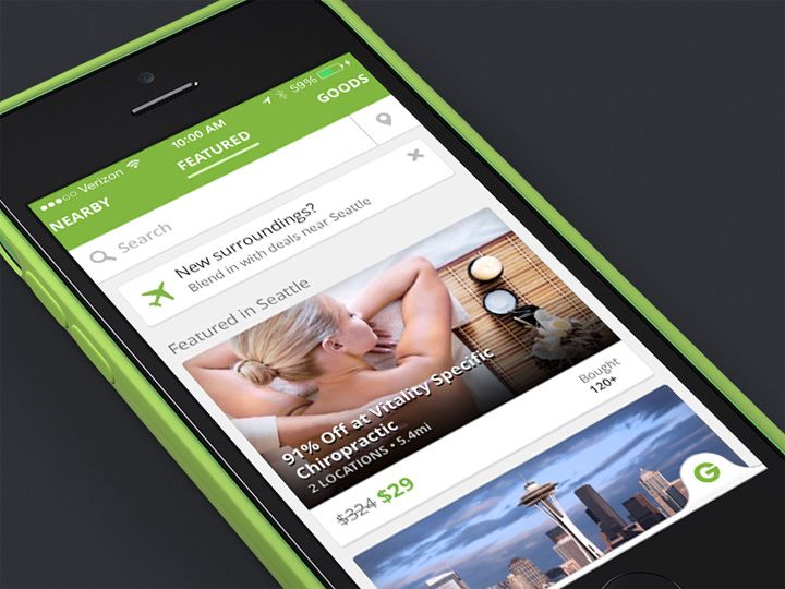 groupon sales iphone app ui design example Mobile Pinterest - groupon resume