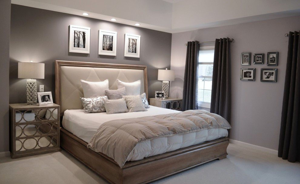 Ben moore violet pearl modern master bedroom paint for Master bed design images