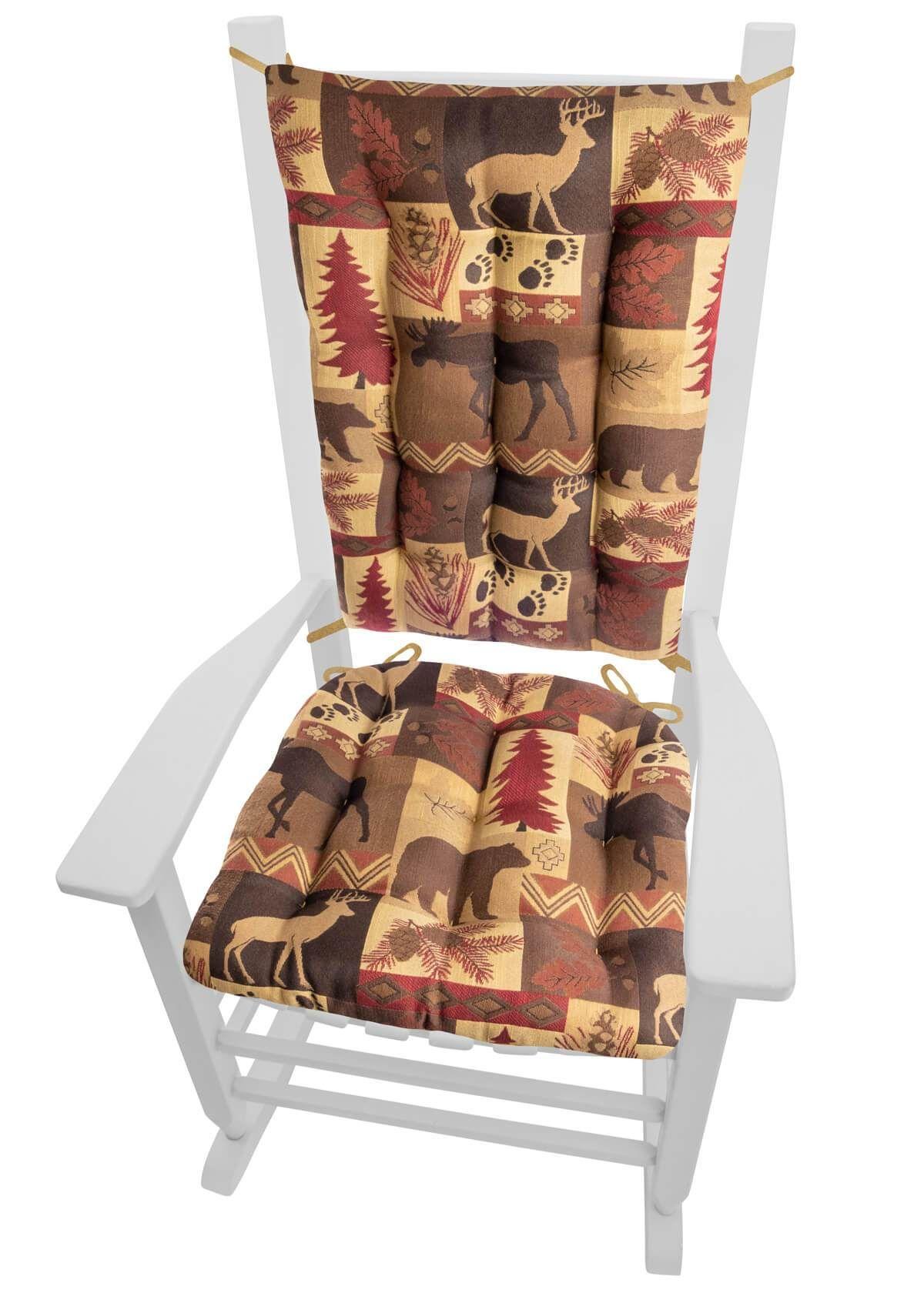 Wilderness summit garnet rocking chair cushions latex foam fill