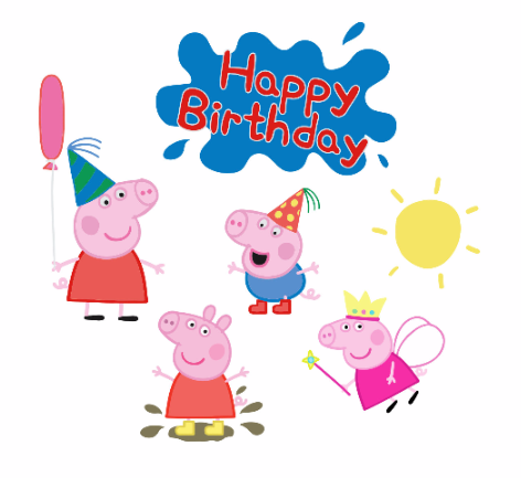 Peppa Pig And Family Free Svg Files Peppa Pig Birthday Peppa Pig Birthday Party Peppa Pig Party