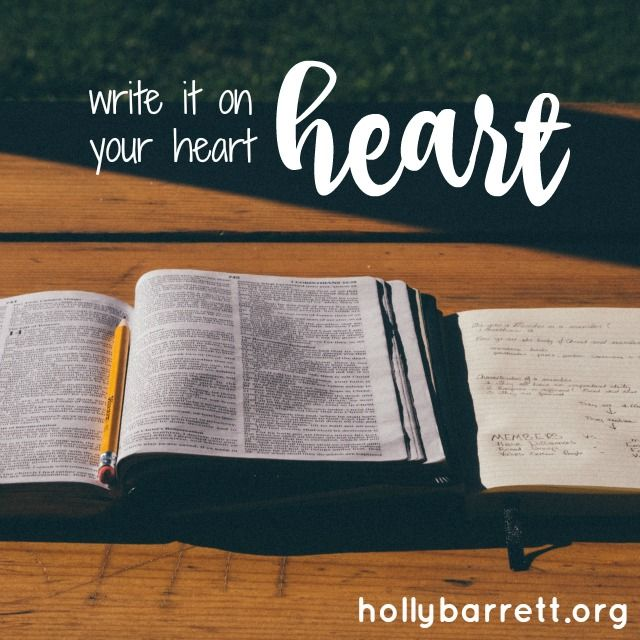 Write god's word on your heart