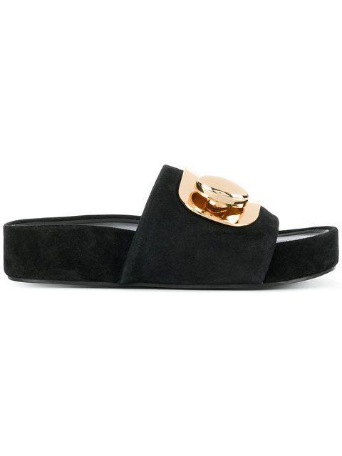 cfa16ad841f8 STELLA LUNA buckle platform slides.  stellaluna  shoes