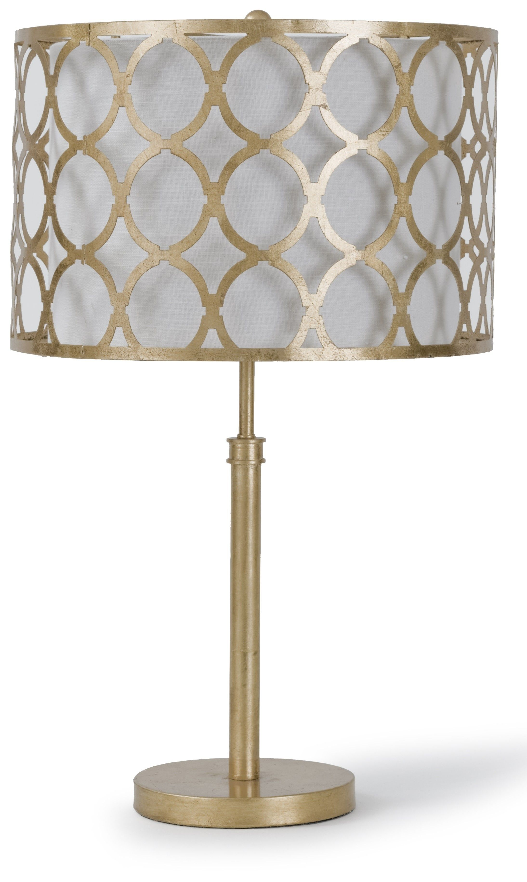 Regina Andrew Gold Metal Table Lamp With Patterned Shade From The Well Appointed House