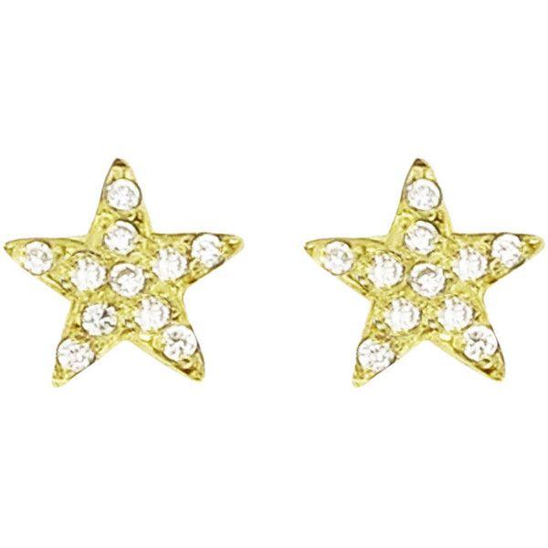 Jennifer Meyer Womens Diamond Mini Star Stud Earrings rbW7F