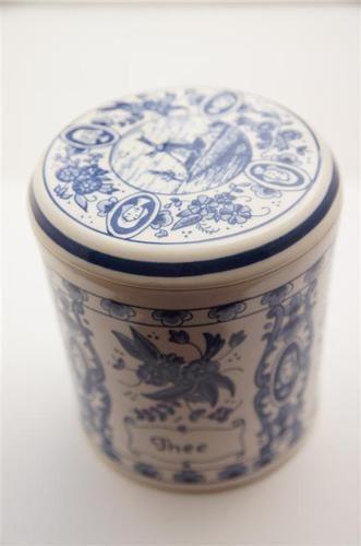 Blauw Delft porcelain container