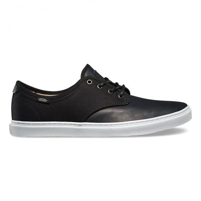 Ludlow Plus Fish Bones Black White Shoes for men by Vans