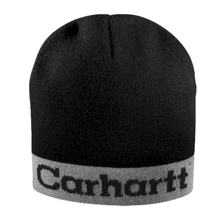 9c0050e4 Carhartt Logo Beanie - Black / Grey   clothes <3   Beanie, Hats ...