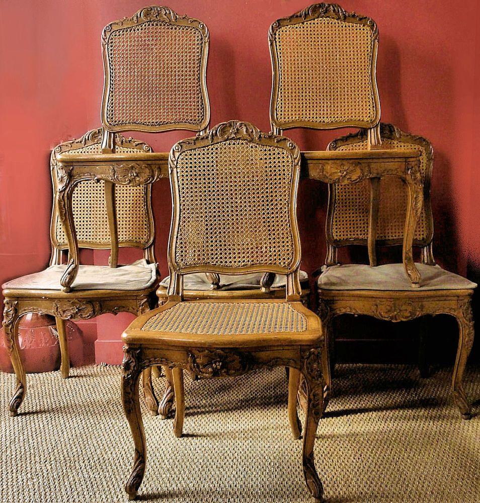 Eßzimmerstühle stühle rokoko 1760 fauteuils frankreich louis xv satz sechs