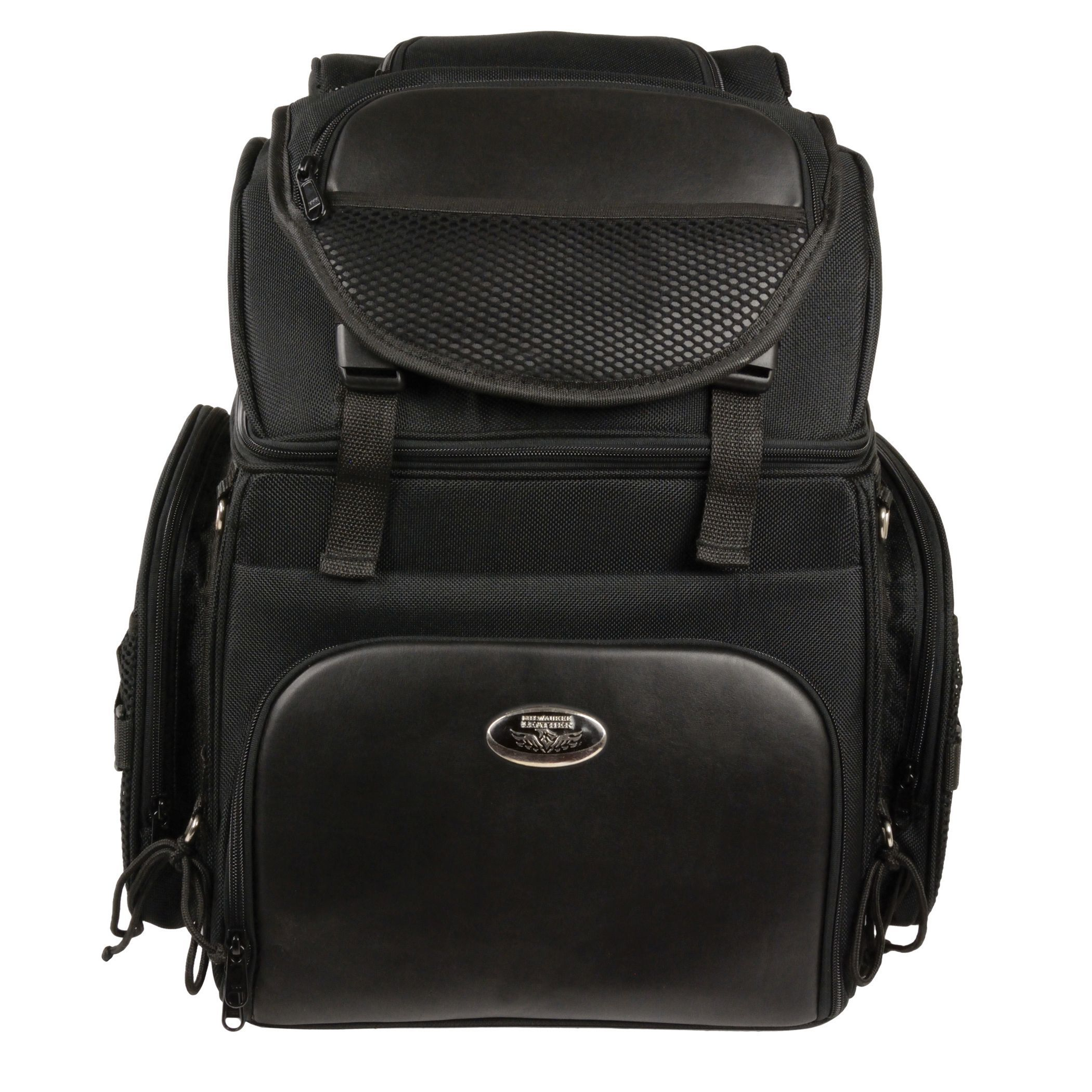 Large nylon sissy bar bag with back pack straps large nylon sissy