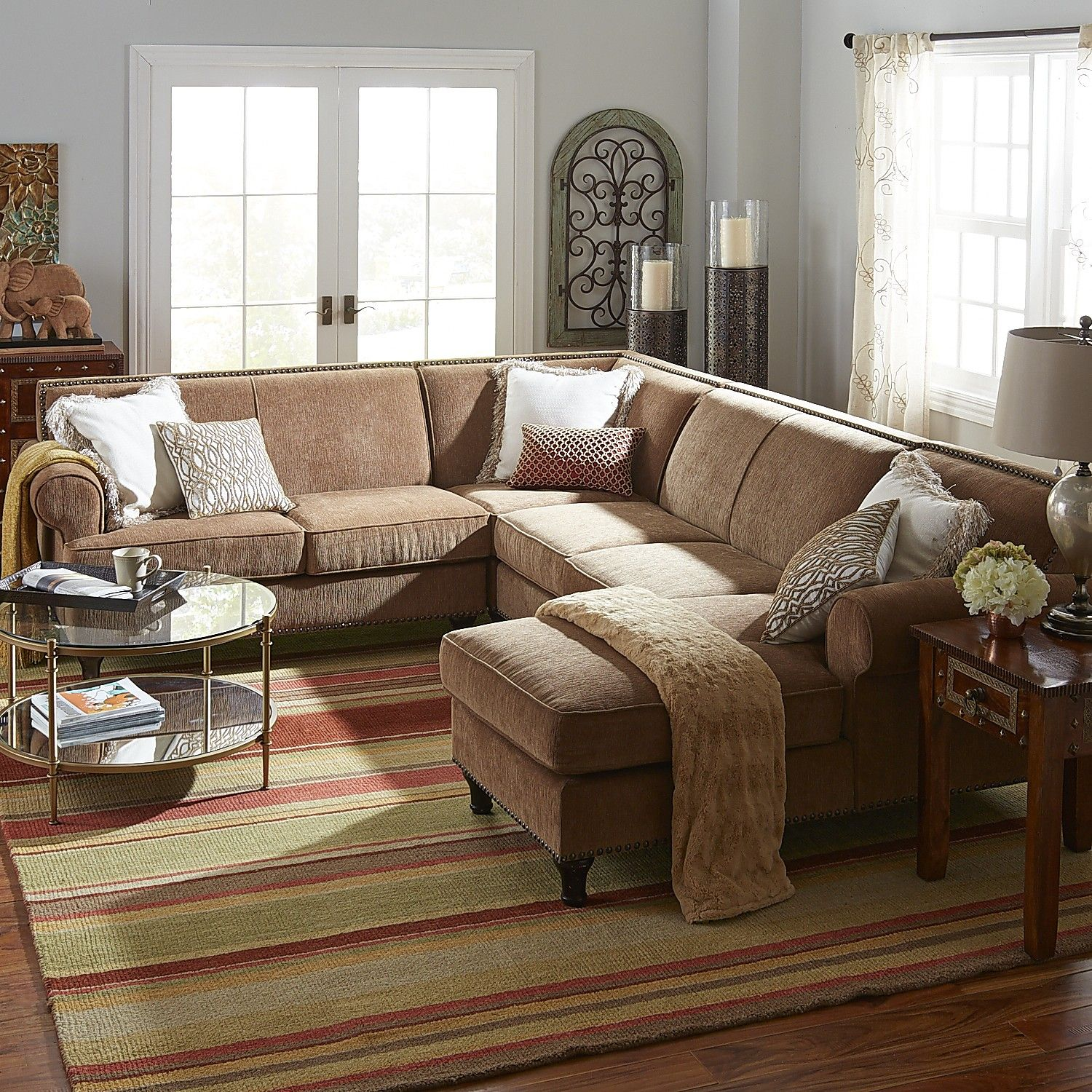 Brown Build You Own Carmen Sectional - Toasted Pecan ...
