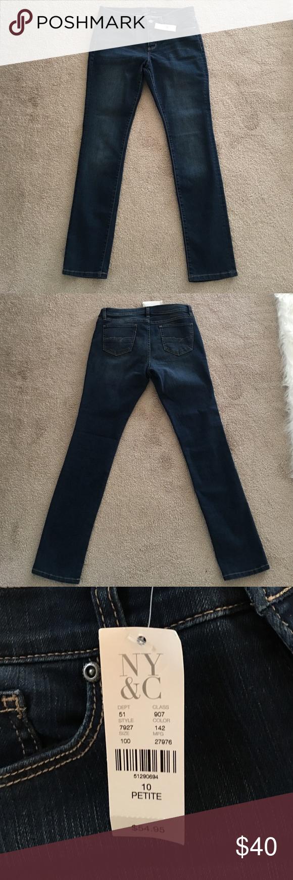New York and Company straight leg jeans Soho New York and Company skinny jeans size 10 petite NWT New York & Company Jeans Skinny