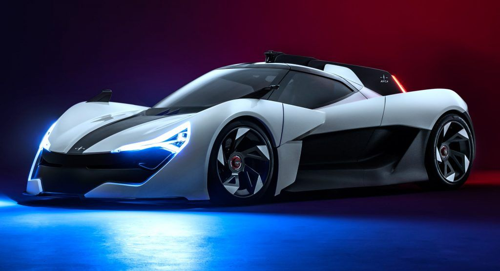 Apex Ap 0 Concept Is A Lightweight Electric Sports Car With 650 Hp In 2020 Electric Sports Car Sports Car Super Cars