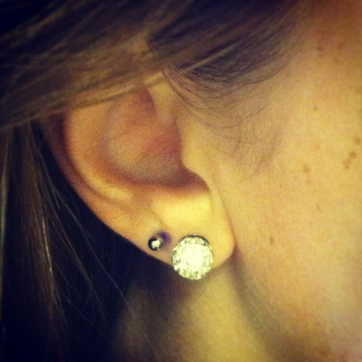 Piercing nose hole  I got my second earring hole done I love it nd piercing  Body