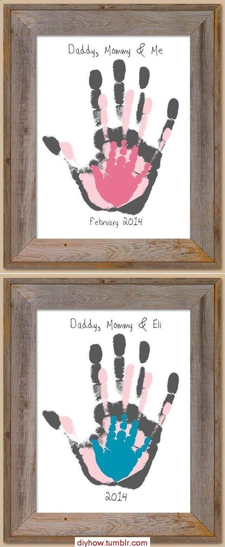 Photo of Family handprint, so cute! – Baby decoration