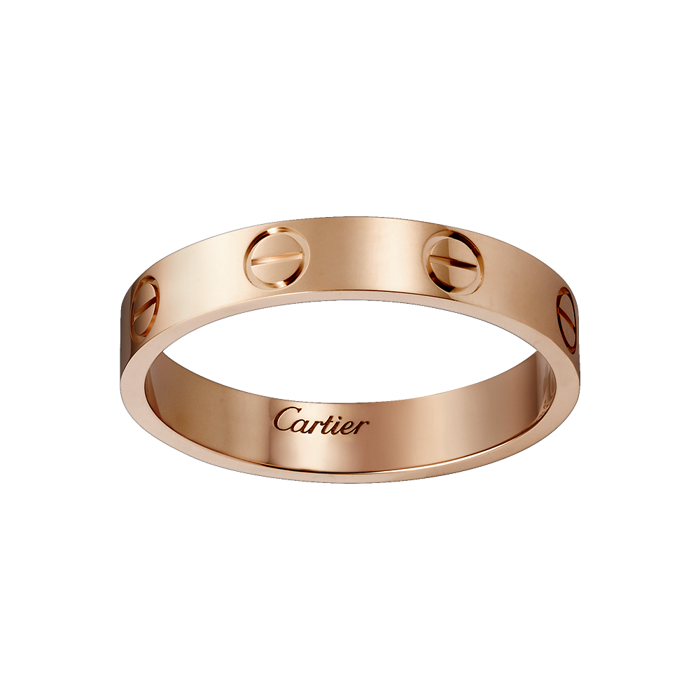 cartier wedding rings Cartier LOVE wedding band in rose gold iconic elegance I have wanted this exact band for my wedding ring for forever
