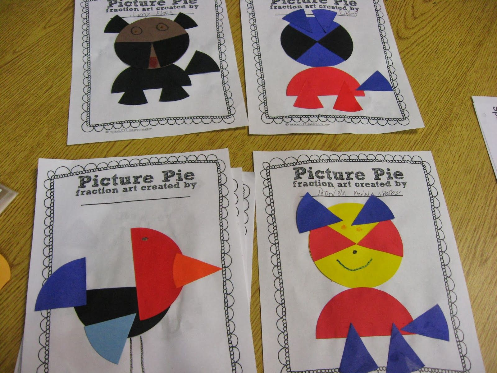 Check Out Ed Emberley S Picture Pie For Great Fraction Art