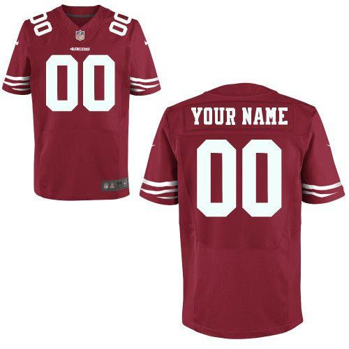 Men's San Francisco 49ers Nike Red Customized 2014 Elite Jersey