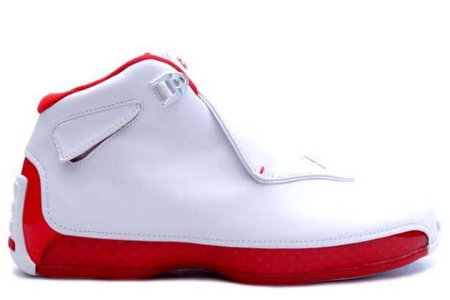 premium selection e76d9 b3bd7 One remarkable version which was designed by the new designer Tate Kuerbis  named Air Jordan 18 Retro Original (OG)-White Varsity Red Shoes was carried  out ...