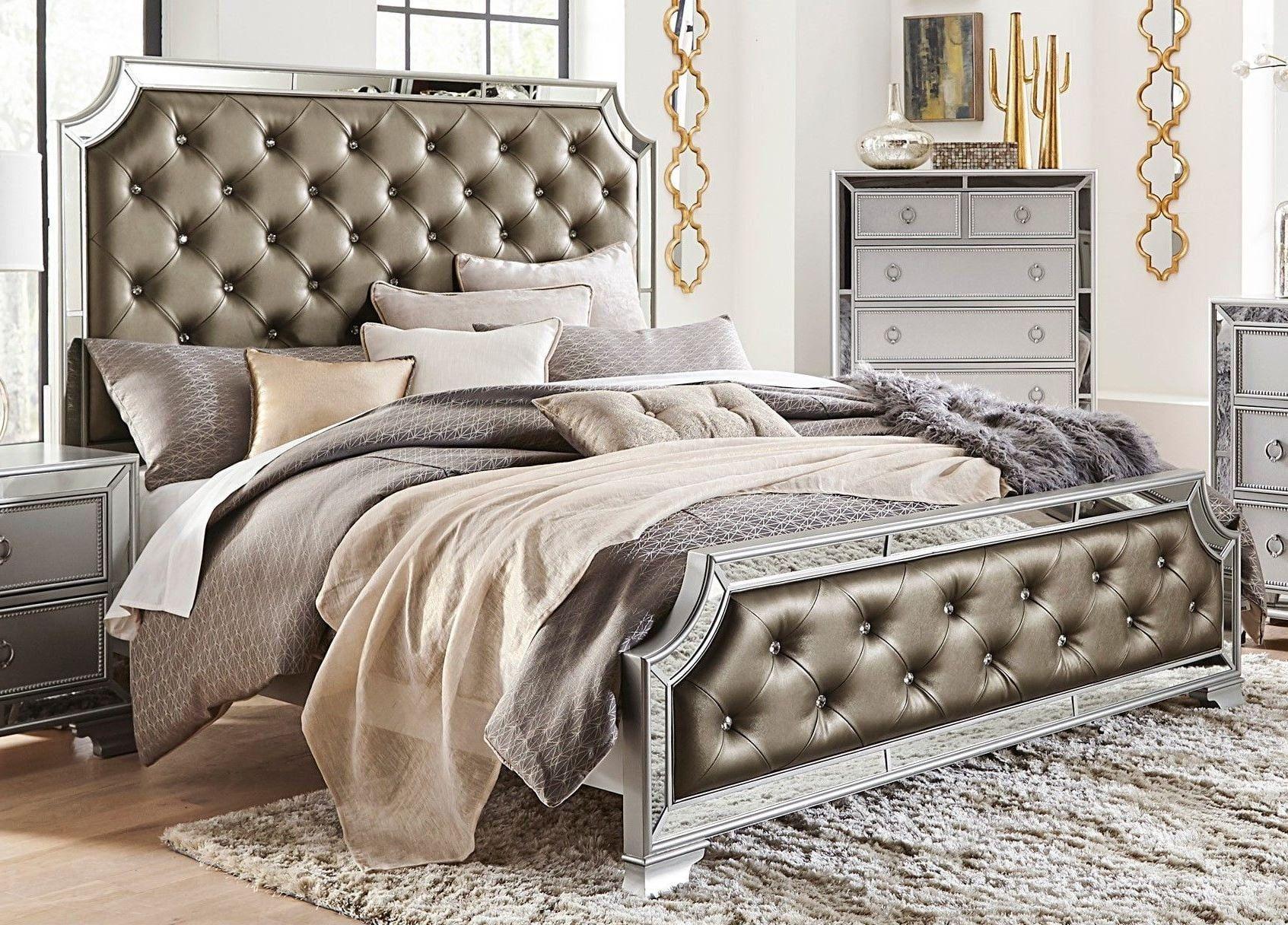 Coralayne Silver Bedroom Set In 2020 Silver Bedroom Bedroom Sets Bedroom Panel