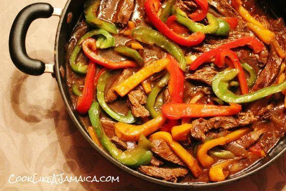 jamaican pepper steak  cook like a jamaicancook like a