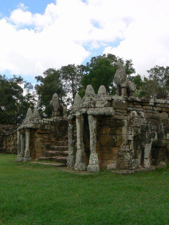 Fotos De La Terraza De Los Elefantes En Angkor Camboya