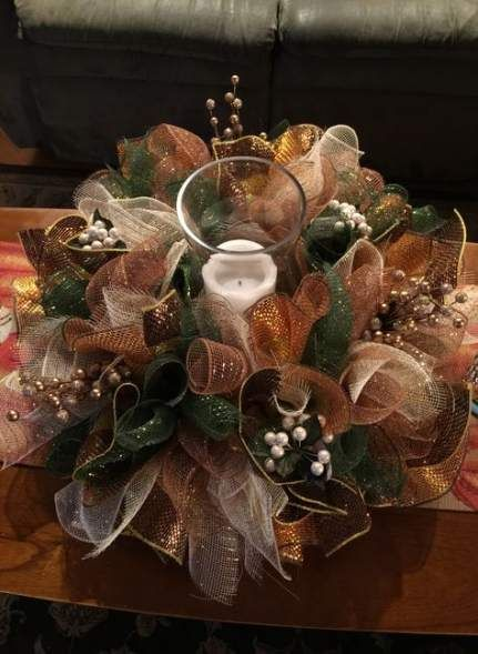Super Diy Table Centerpieces Christmas Deco Mesh 20+ Ideas #decomeshwreaths