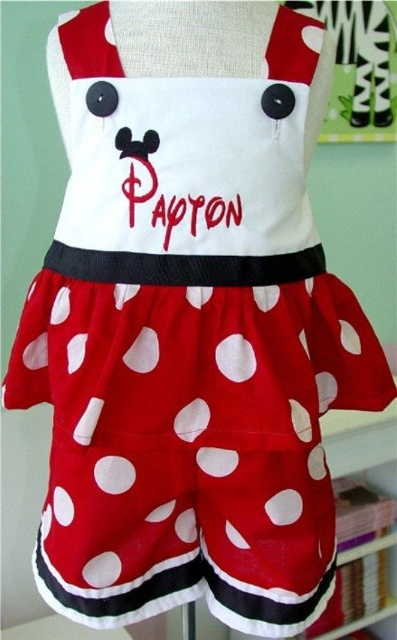 Custom Disney Minnie Mouse Outfit Swing Top and Capris want to make ...
