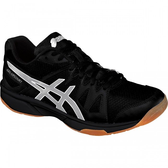 Asics Gel-Upcourt Women's Volleyball Shoes Black/Silver/White, NEW