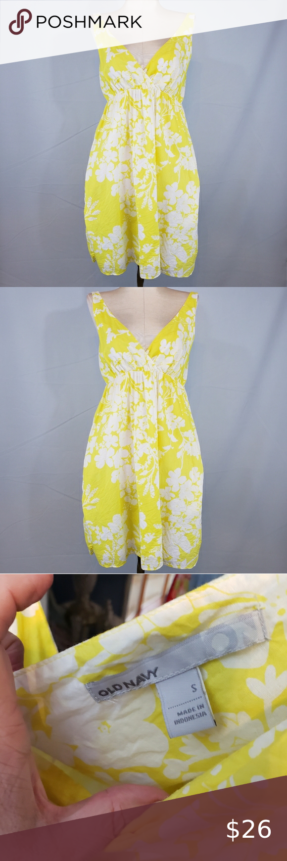 Old Navy Yellow And White Dress Size Small Yellow And White Dress Red Dress Maxi White Swing Dress [ 1740 x 580 Pixel ]