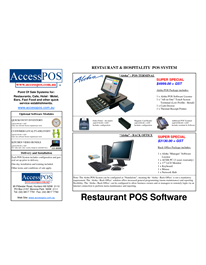 Restaurant Pos Software Brochure  Restaurant Cafe  Hospitality