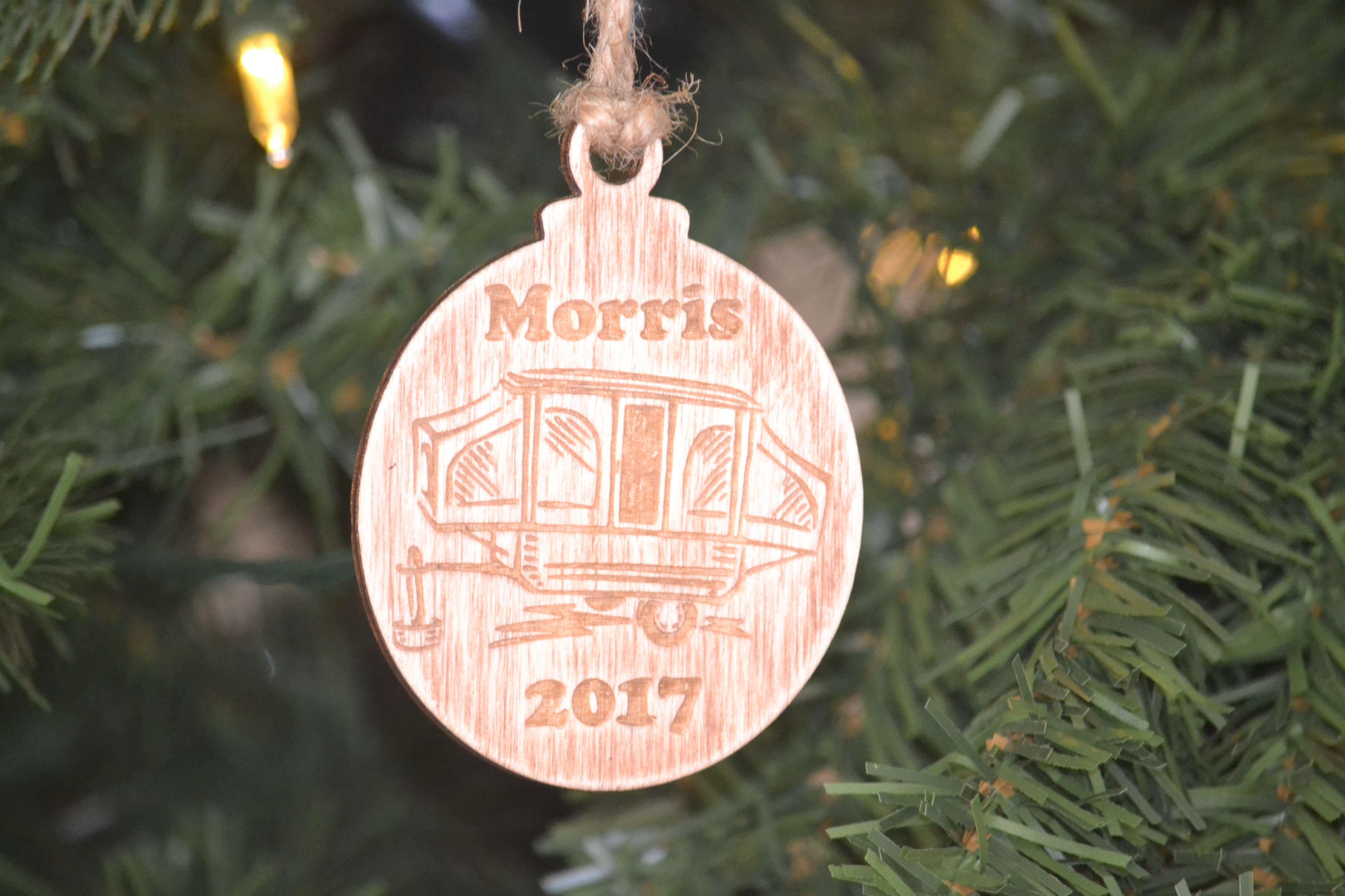 Christmas Ornament Personalized Popup Camper Ornament