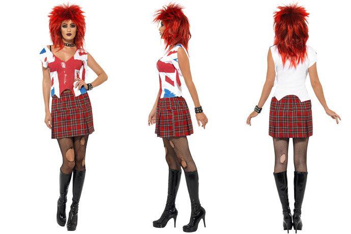 Ms Anarchist 80s Punk Fancy Dress for Women 68952263f8