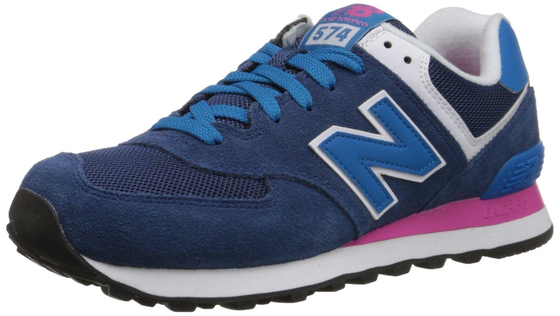 New Balance Women S Wl574 Core Plus Pack Running Shoe Blue Pink 7 B Us New Balance Women New Balance Sneakers