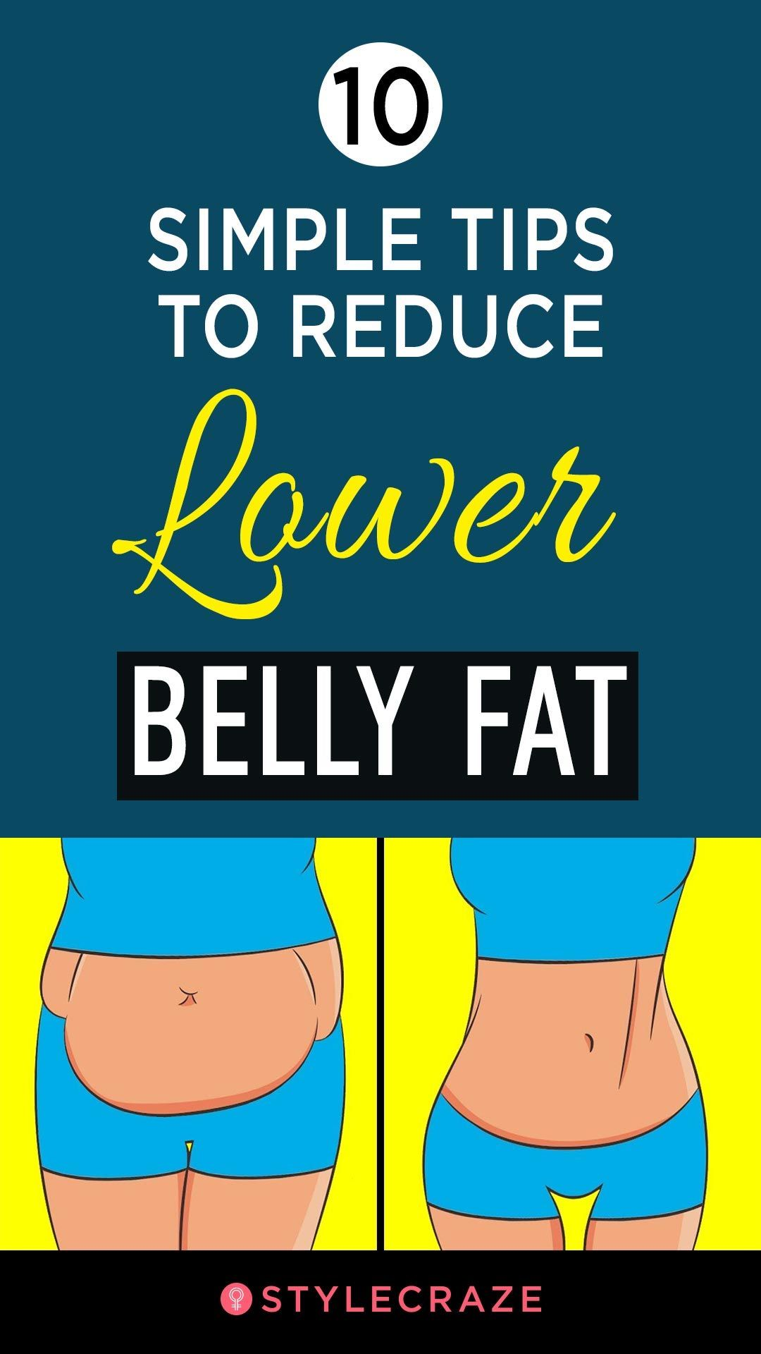 10 Simple Tips To Reduce Lower Belly Fat recommendations