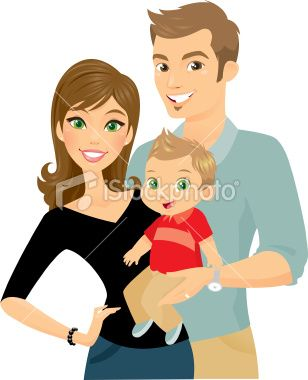 A Happy Little Family Consisting Of A Beautiful Mom A Handsome Dad Family Illustration Illustration Tea Bag Art