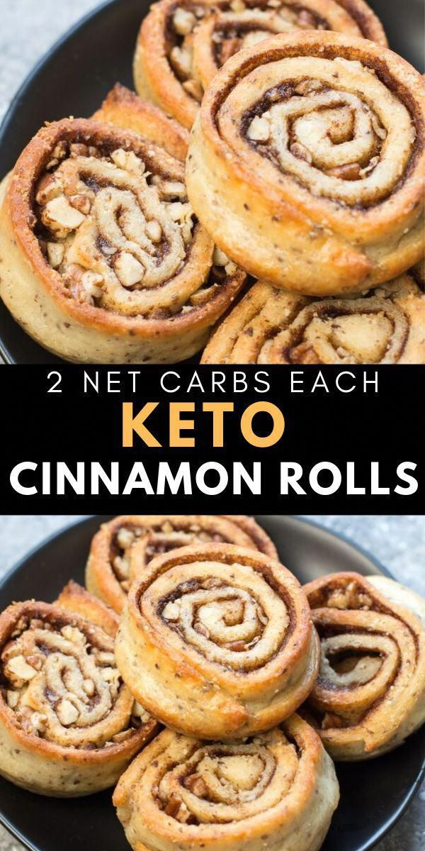 Easy Keto Cinnamon Rolls you'd never guess are low carb. Just 2 net carbs per roll! Checkout the recipe video in the post to see just how easy they are! The perfect low carb breakfast!  #keto #gluten free #KetoRecipes