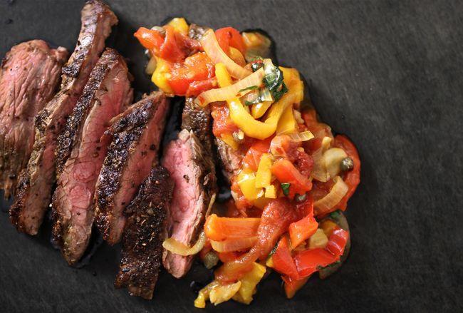 The Bitten Word - Flank Steak Peperonata - It will make their list of best recipes of 2015.