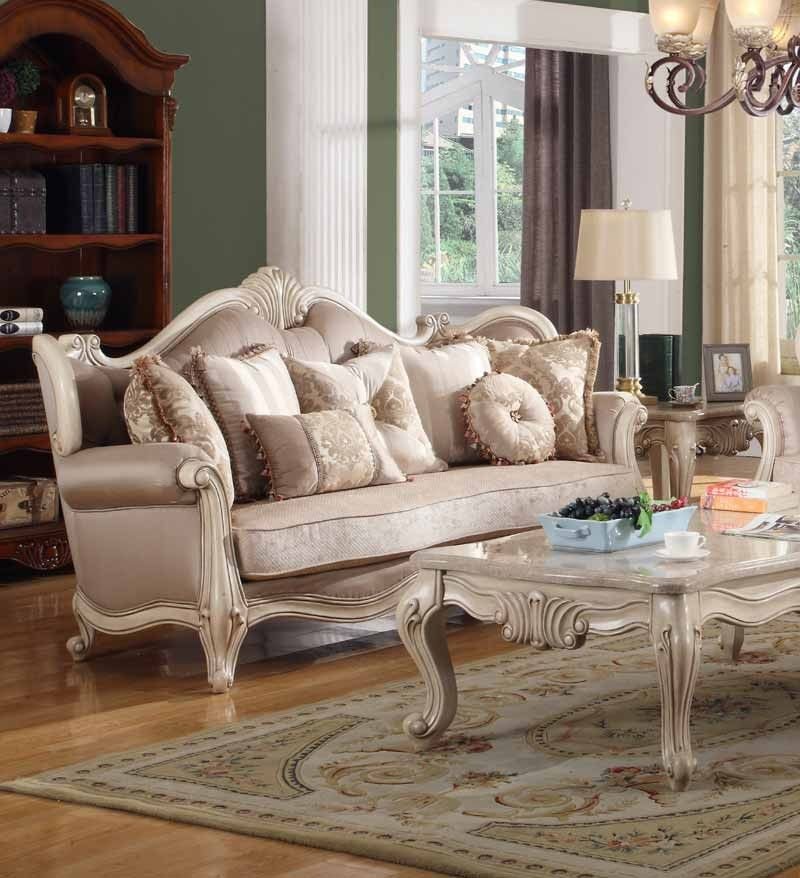 Best Mcferran Home Furnishings Sf8701 Sofa In White Sf8701 400 x 300