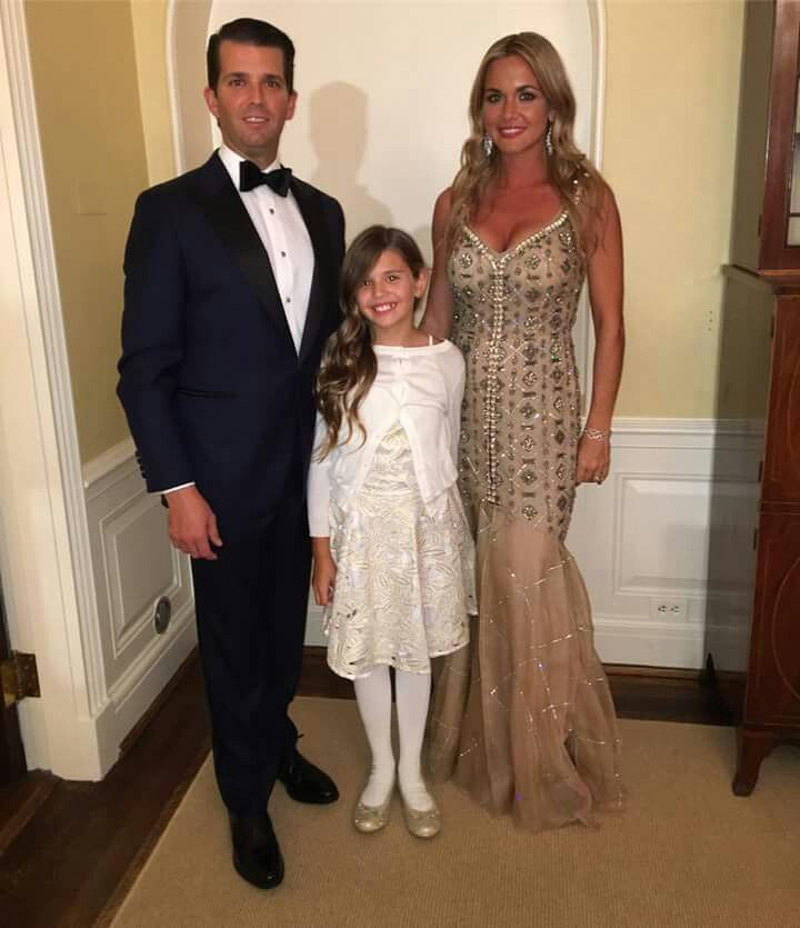 Donald Trump Jr With His Wife And Daughter Vanessa Kai Before The Inaugural Ball