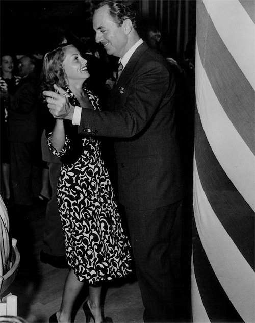 Bill and Diana in 1942.