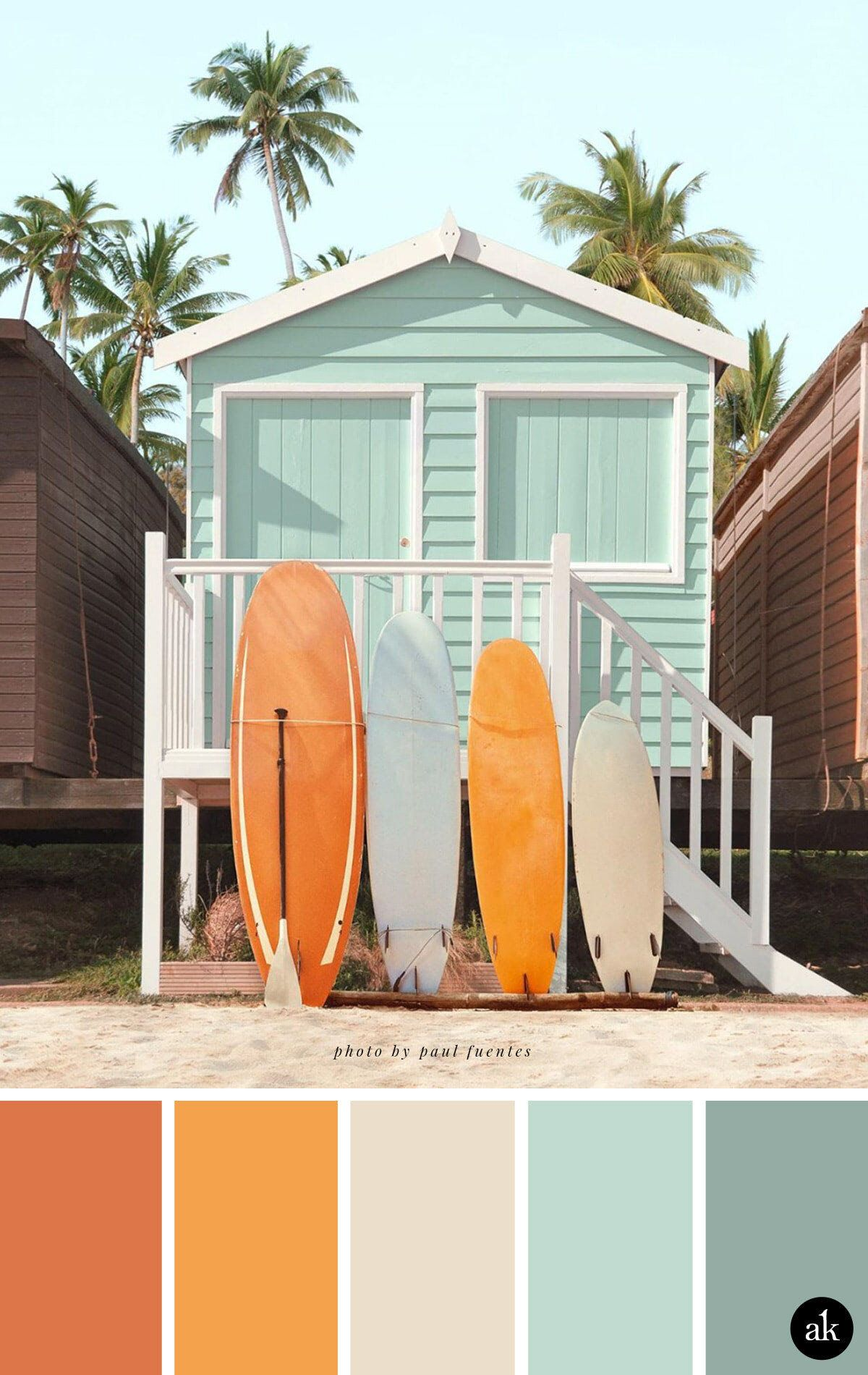 A Beach House Inspired Color Palette Creative Brands For Creative People Akula Kreative Beach Color Palettes Color Schemes Colour Palettes Beach Color