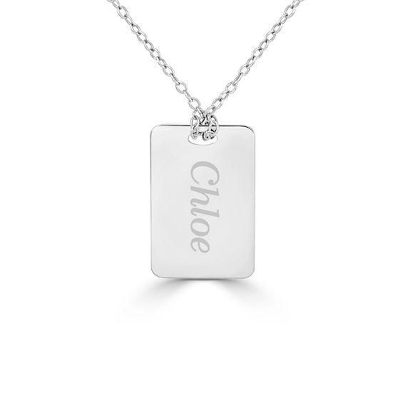 Zales Mothers Offset Heart Pendant (1-3 Names)
