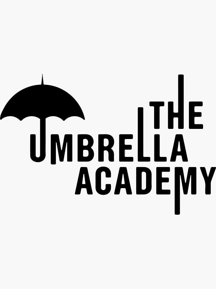 The Umbrella Academy Sticker By Juliatleao In 2021 Academy Logo Umbrella Funny Umbrella