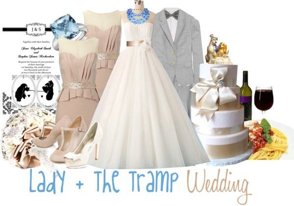 Lady And The Tramp Wedding By Jami1990 Liked On Polyvore Disney Wedding Disney Inspired Wedding Disney Themed Outfits