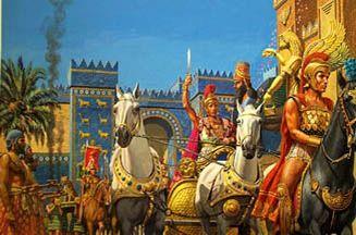 El Magno cruza las puertas de Ishtar en Babilonia y toma la ciudad ...