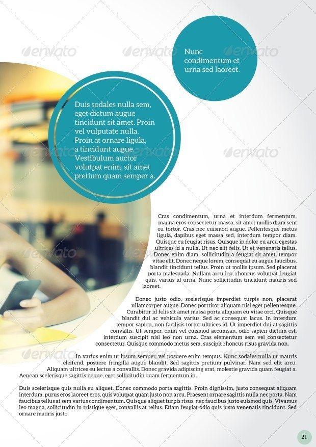 Circle Magazine Template-Indesign 24 Page Layout | Pinterest ...