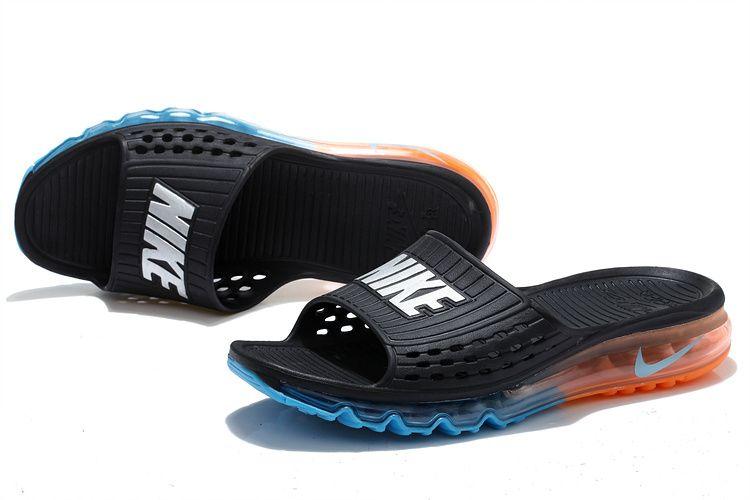 Cheap Nike Air Max 2015 Summer Sandals Black Blue Orange For Sale